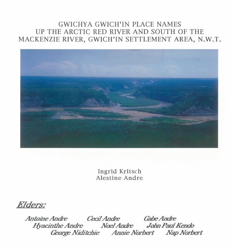 Gwichya Gwich'in Place Names 1993 Cover image