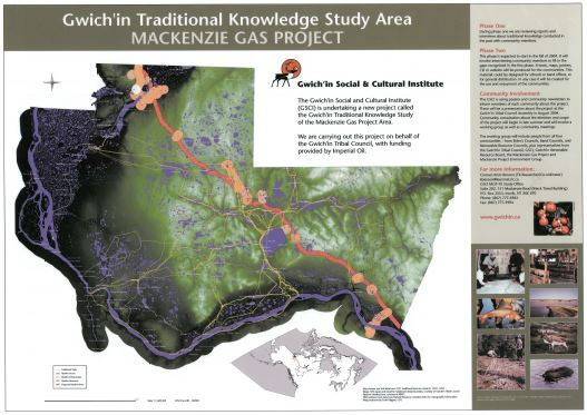 Gwich'in Traditional Knowledge Study of the Mackenzie Gas Project Area Poster