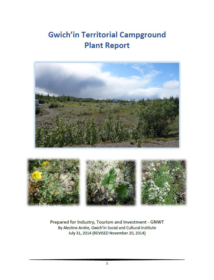 Gwich'in Territorial Park Plant Report 2014