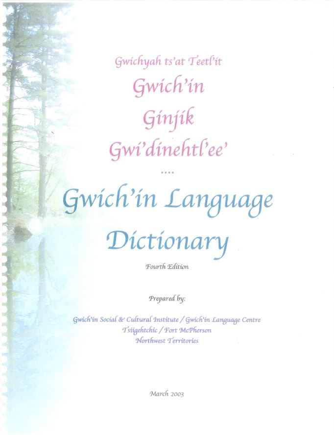 Gwich'in Language Dictionary Report cover