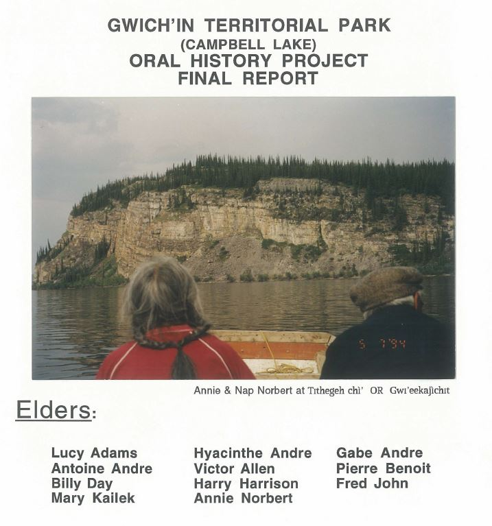 Gwich'in Territorial Park report 1994 Cover image