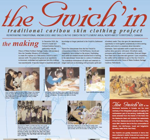 The Gwich'in Traditional Caribou Skin Clothing Project (poster)