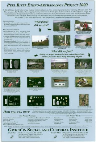 Peel River Ethno-Archaeology Project 2000 Poster