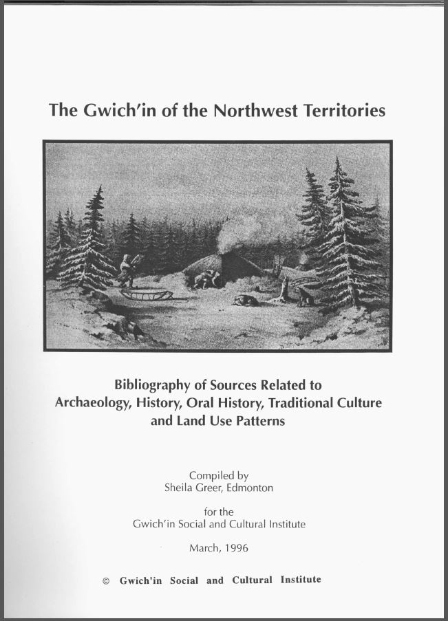 The Gwich'in of the Northwest Territories - cover image