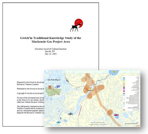 Gwich'in Traditional Knowledge Study of the Mackenzie Gas Project Area Report Cover
