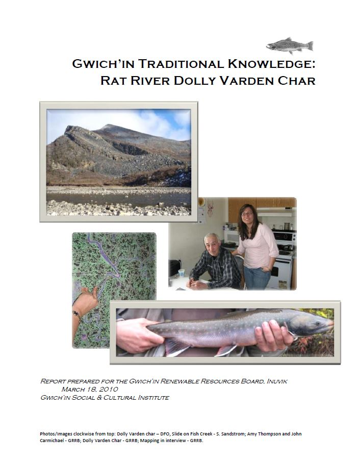 Gwich'in Traditional Knowledge: Rat River Dolly Varden Char Report Cover
