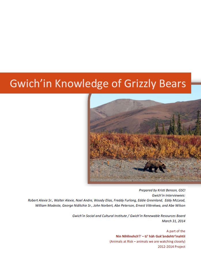 Gwich'in Knowledge of Grizzly Bears Report Cover