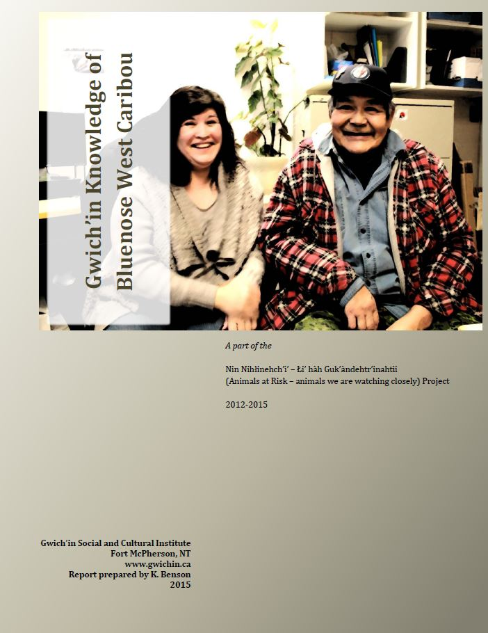 Gwich'in Knowledge of Bluenose West Caribou Report Cover
