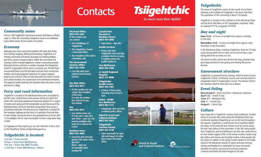 Tsiigehtchic Community Brochure